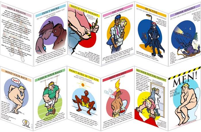 Sexual health advice leaflets heart