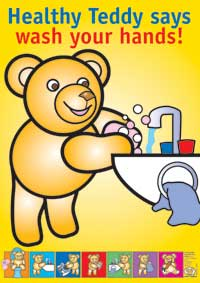 Healthy Teddy Says Wash Your Hands!
