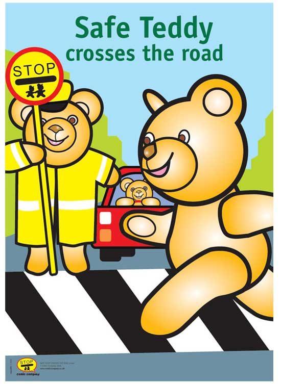 Comis Vinyl Flooring Safe : from safe teddy safe teddy crosses the road poster a3 posters click on ...