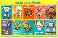 Wash your hands magnets fridge magnets