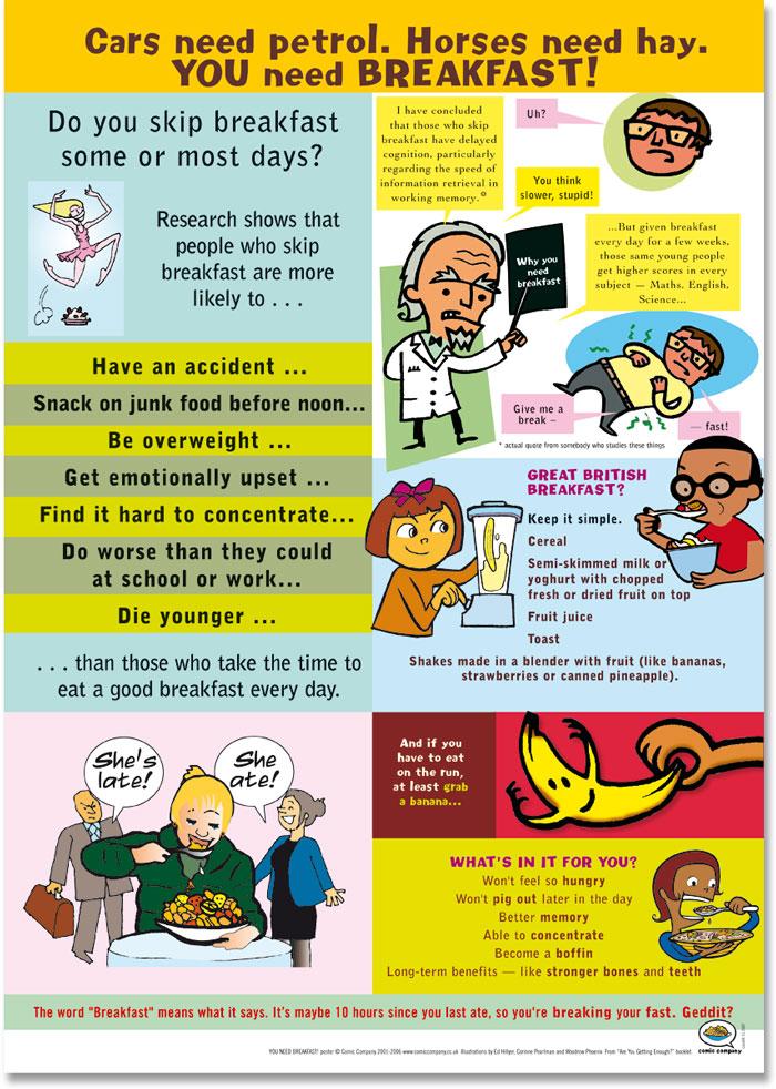 comic company healthy eating