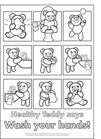 HEALTHY TEDDY WASH YOUR HANDS ACTIVITY SHEETS